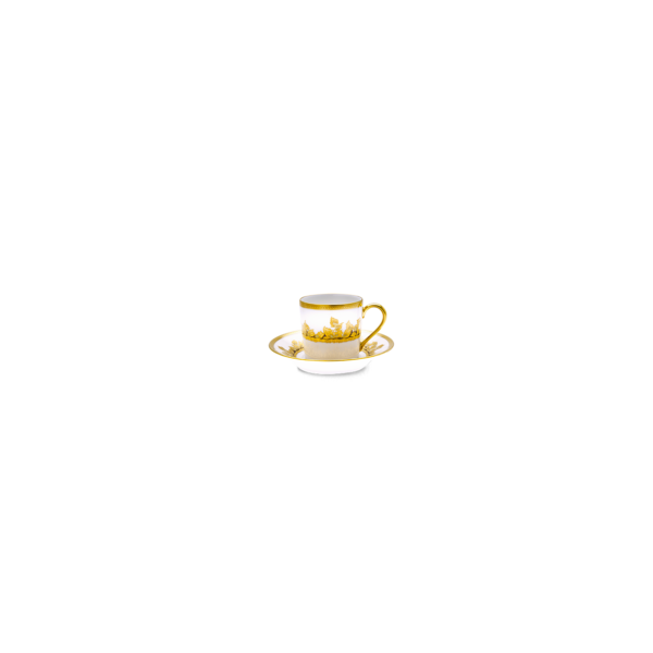 Feuille d'Or Paire Tasse Expresso