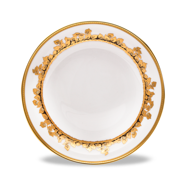 Feuille d'Or Assiette Creuse Corolle