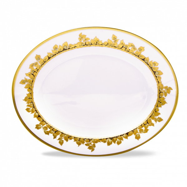 Feuille d'Or Grand Plat Ovale