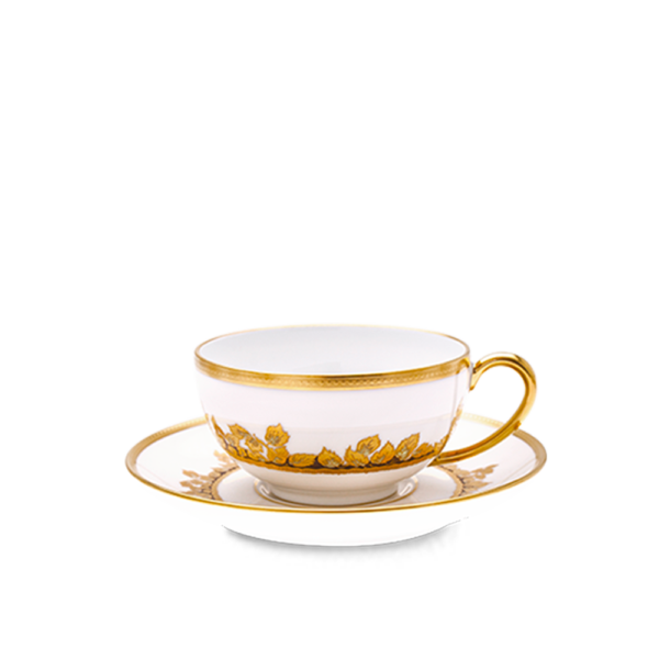 Feuille d'Or Paire Tasse Thé Cyl.