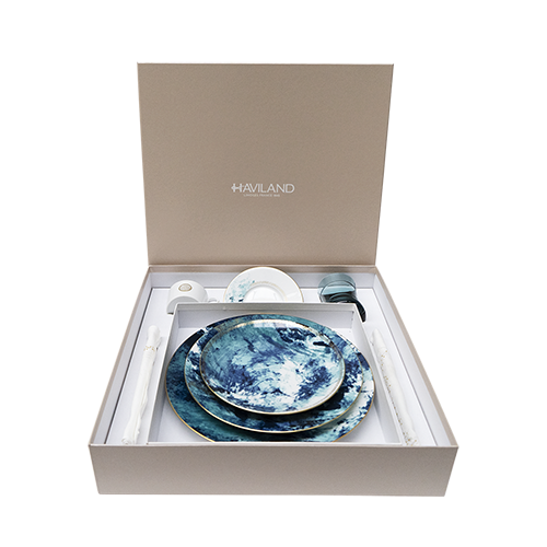 Coffret Ocean bleu place setting tea